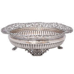 Sterling Silver Victorian Footed Centrepiece Bowl