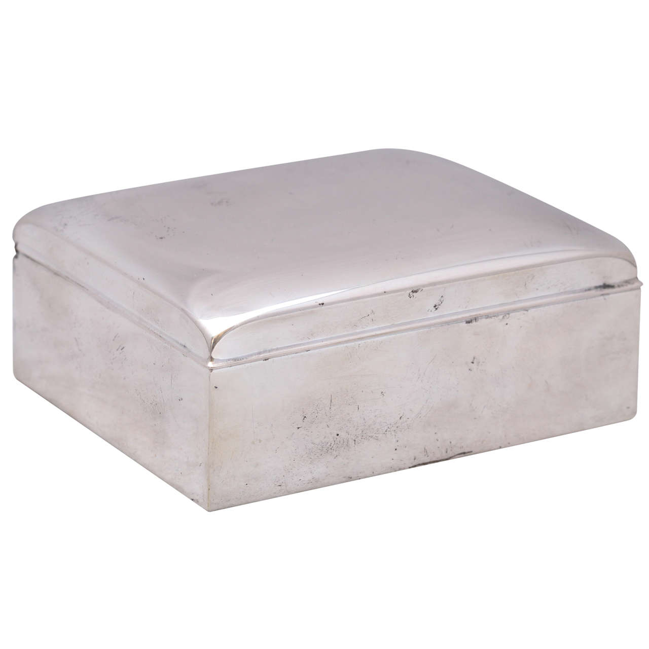 Art Deco Sterling Silver Table Box With Hinged Lid At 1stdibs