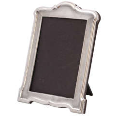"Art Deco Sterling Silver Engine-Turned, ""Hump-Topped"" Picture Frame"