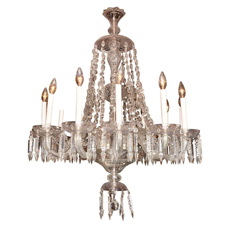 Czechoslovakian Crystal Chandelier At 1stdibs