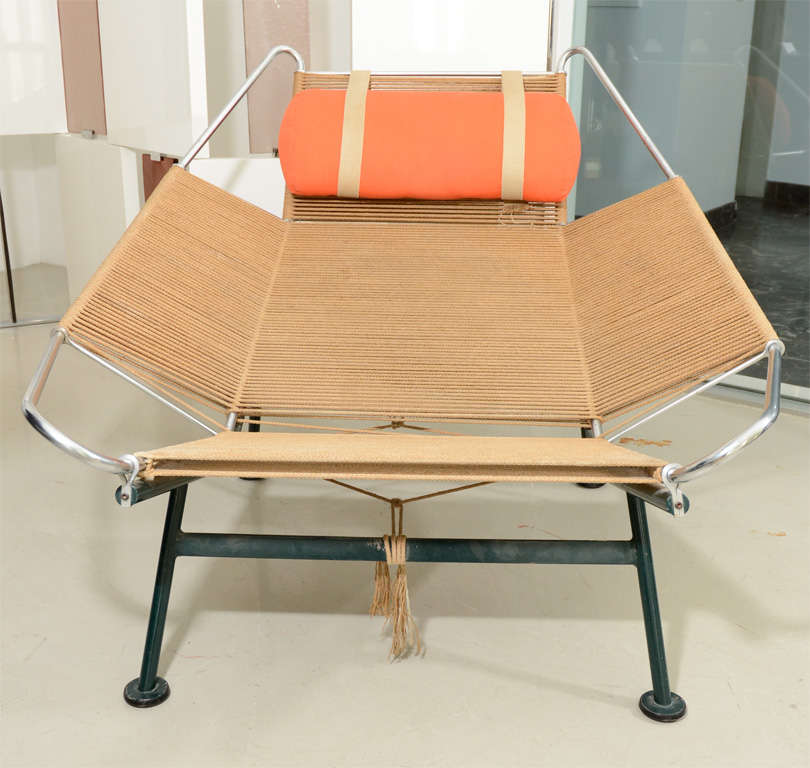 Hans Wegner Quot Flag Line Quot Halyard Lounge Chair At 1stdibs