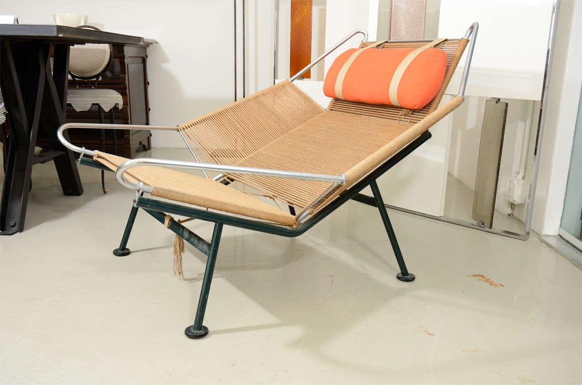 "Hans Wegner ""Flag Line"" Halyard Lounge Chair image 10"