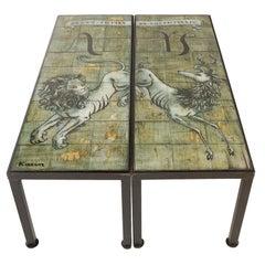 Pair of Custom Made Cocktail Tables by Bottega Karin