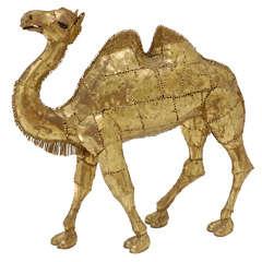 Pierced Brass Camel Sculpture