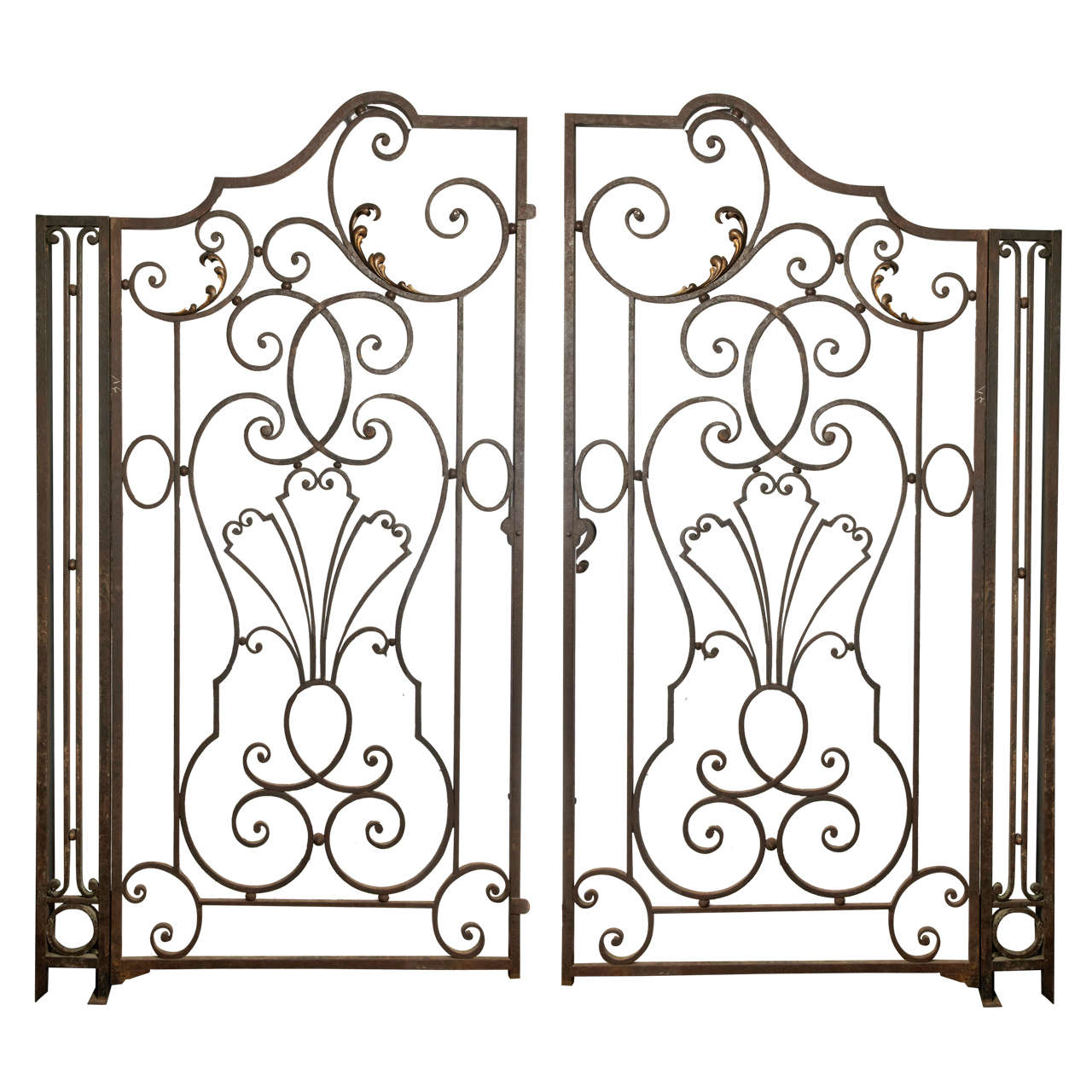 19th Wrought Iron Gate French Manufacture at 1stdibs