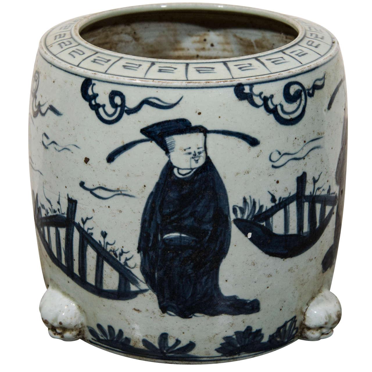 Antique Porcelain Brush Holder At 1stdibs