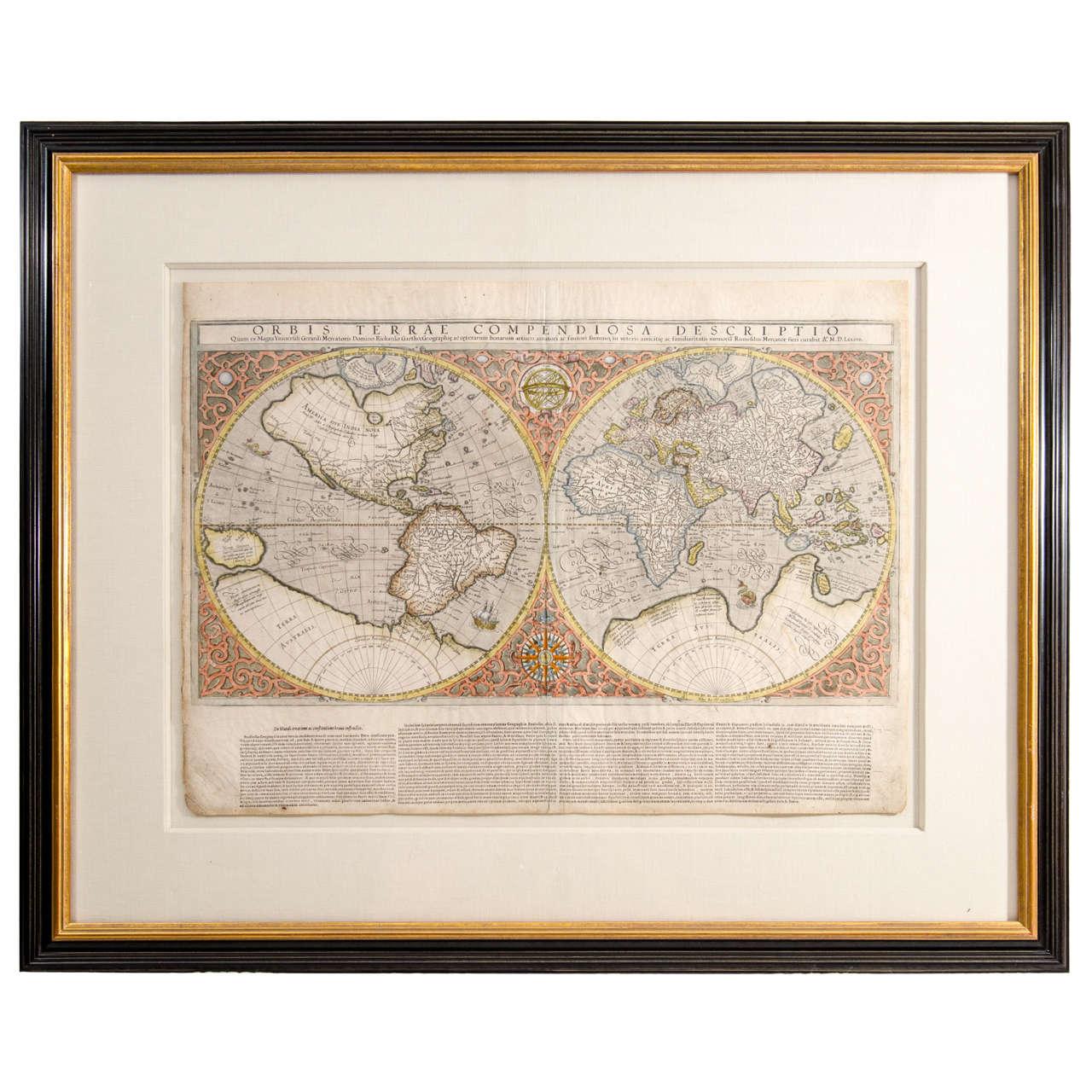 Mercator 39 S Double Hemisphere World Map At 1stdibs