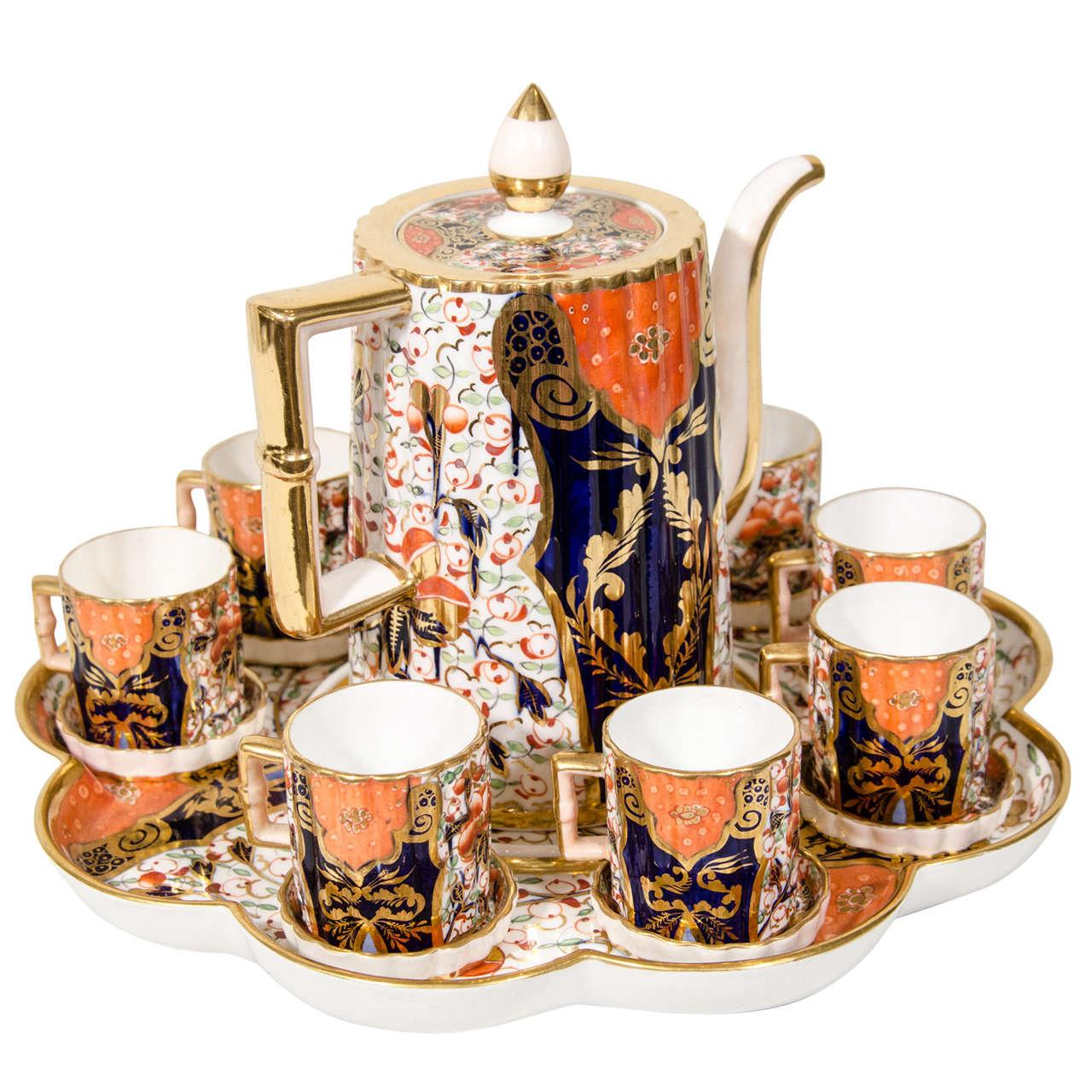 An Antique English Demitasse Coffee Set At 1stdibs