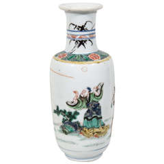 A Small Chinese Famille Verte Vase