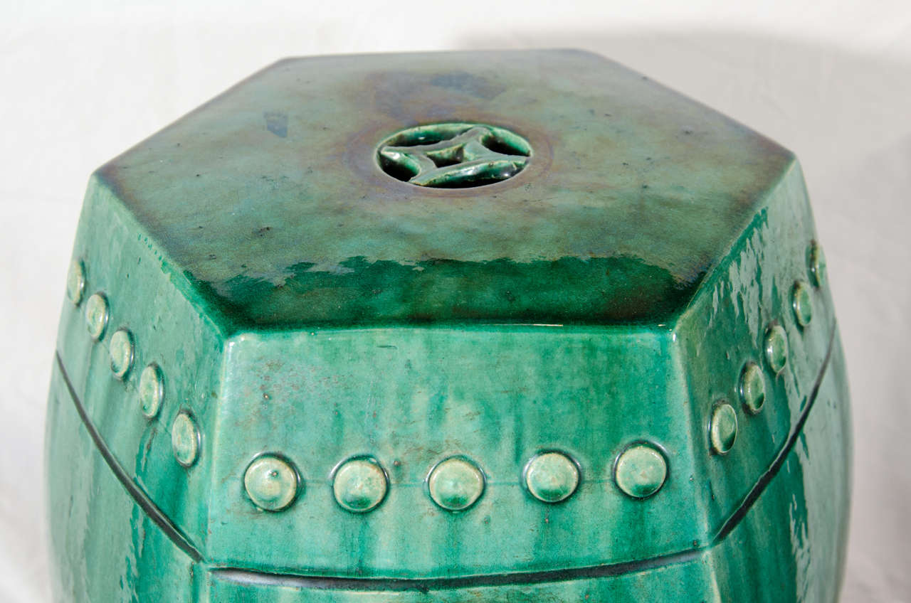 Pair Of Chinese Green Glazed Garden Seats At 1stdibs