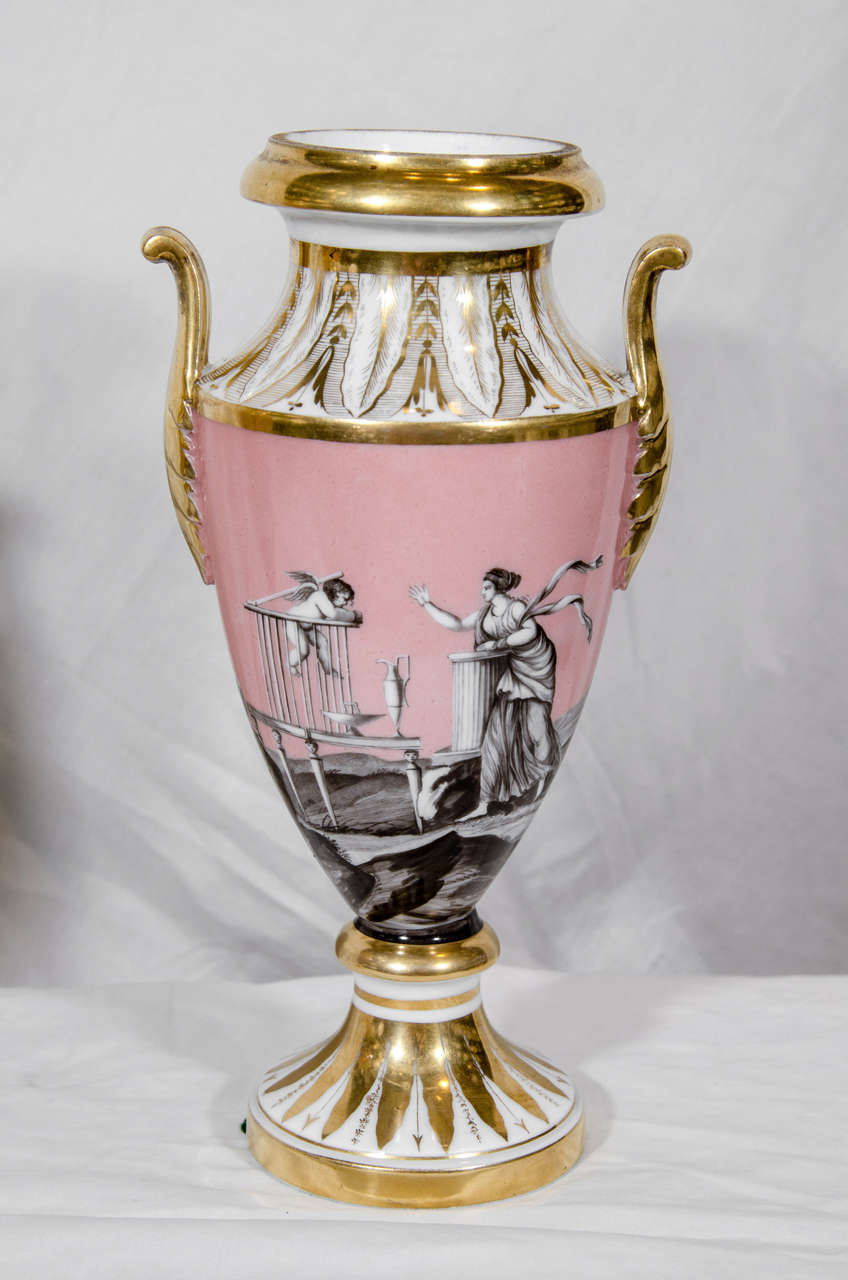 Pair antique french vases with romantic neoclassical scenes at 1stdibs pair antique french vases with romantic neoclassical scenes in excellent condition for sale in new york reviewsmspy