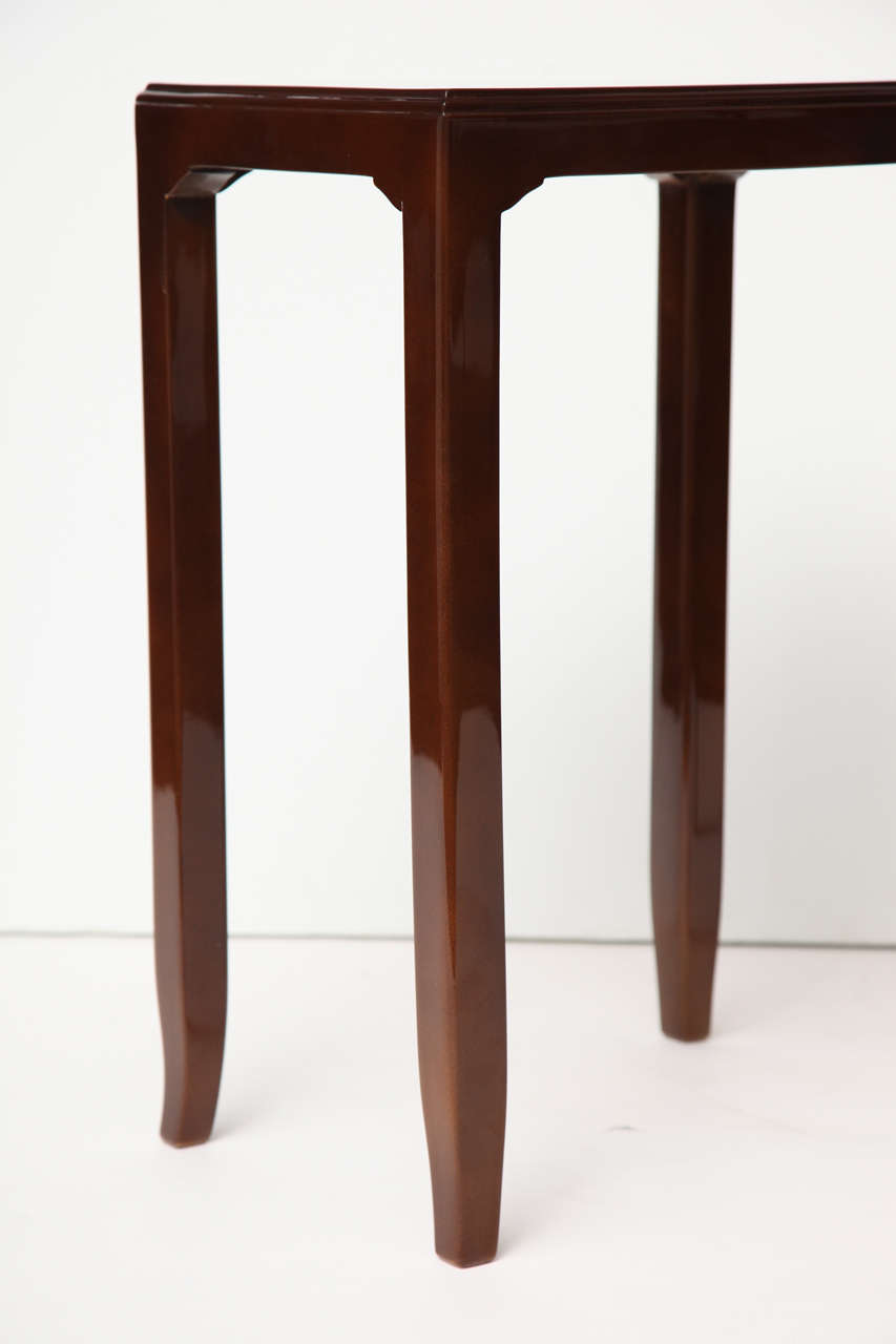 Maison Leleu, Pair of Lacquered Side Tables, France, C. 1958 For Sale 2