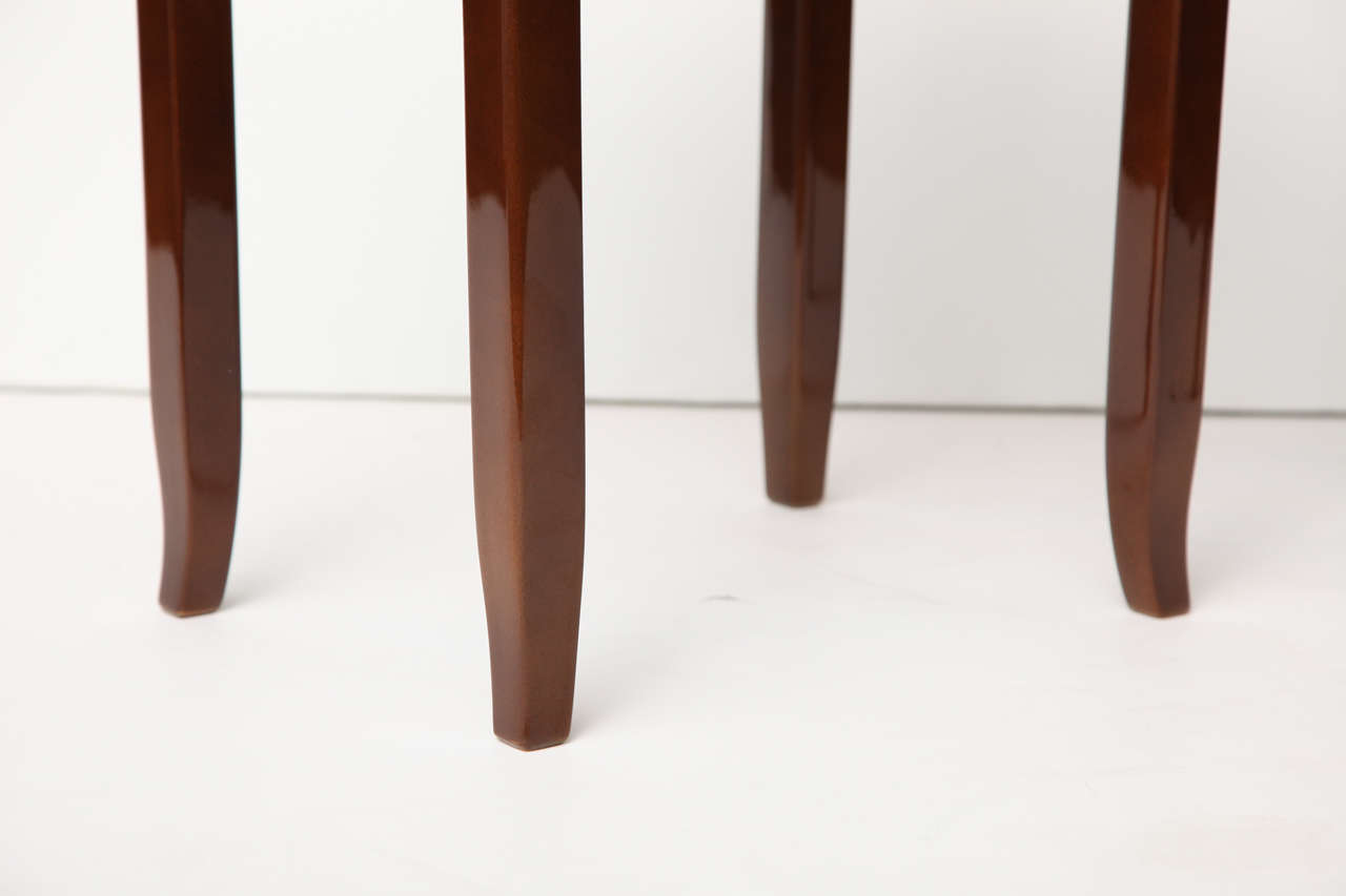 Maison Leleu, Pair of Lacquered Side Tables, France, C. 1958 For Sale 3