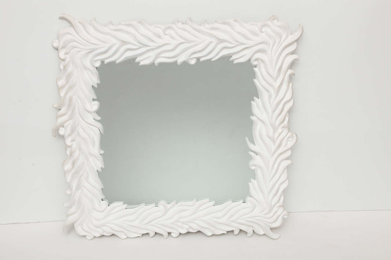 Contemporary polyester plaster mirror designed by Marc Bankowsky.