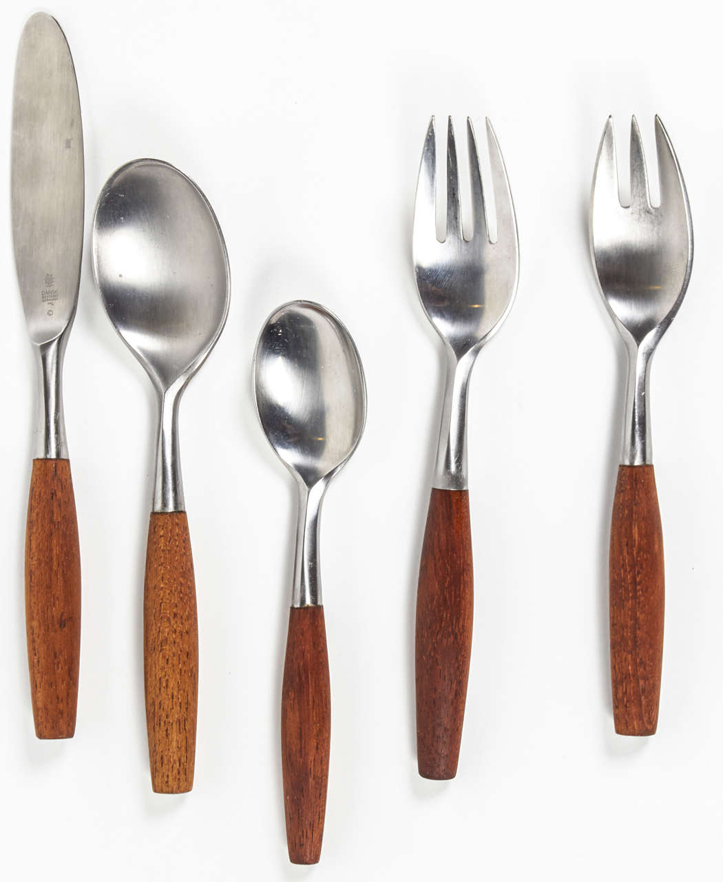 Mid-Century Modern Fjord Five Piece Flatware Set by Jens Quistgaard For Sale
