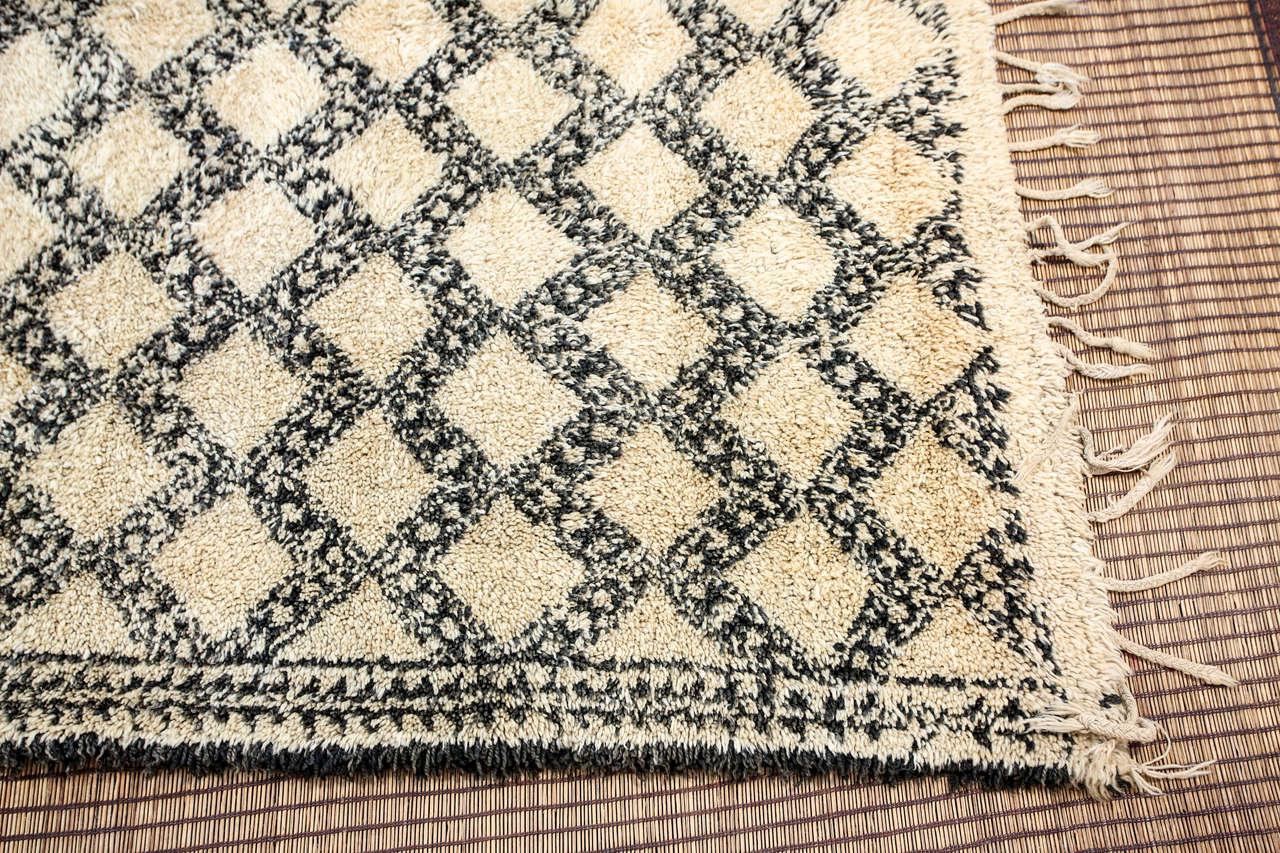 Spun Beni Ouarain Shaggy Moroccan Rug North Africa For Sale