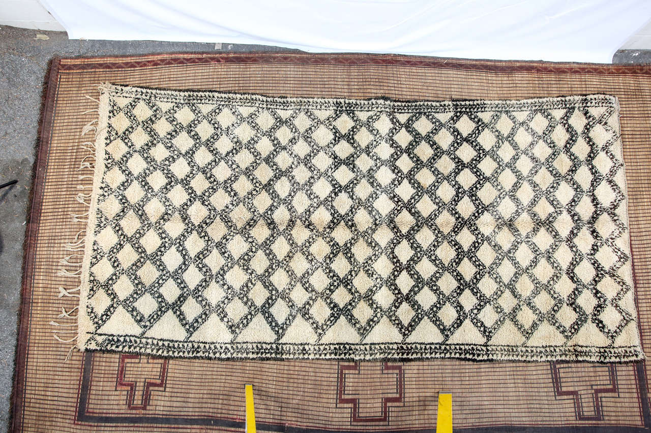Beni Ouarain Shaggy Moroccan Rug North Africa For Sale 2