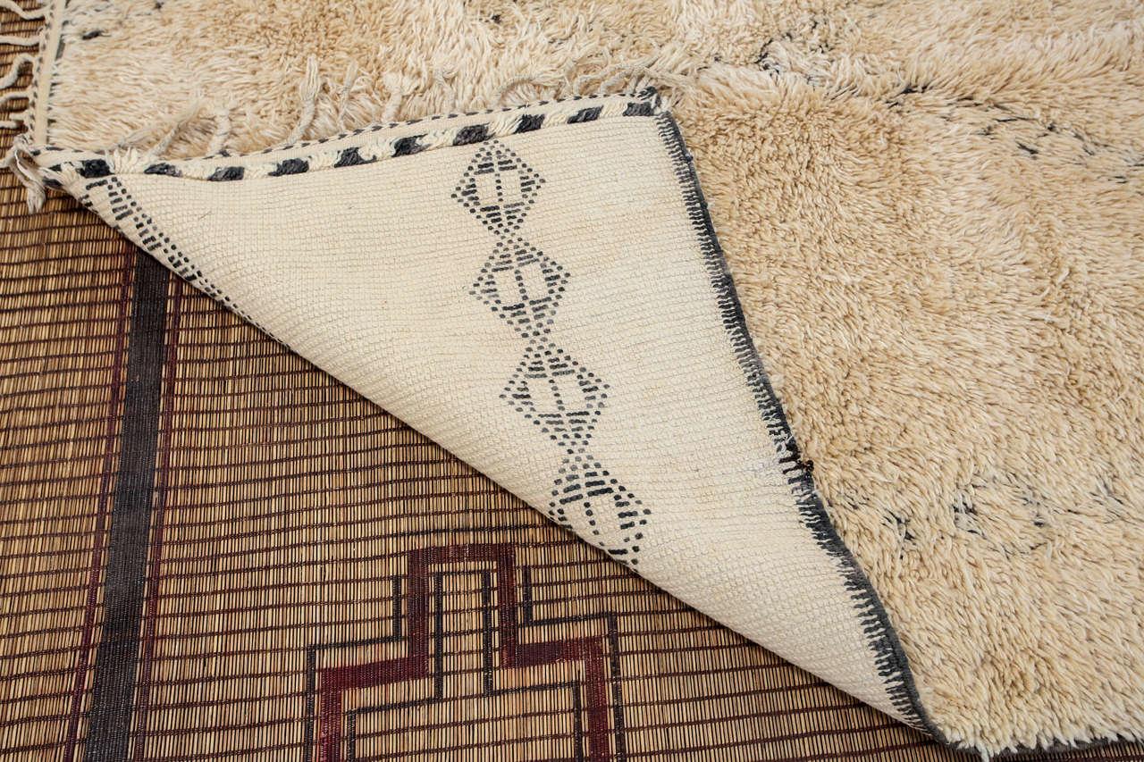 Moroccan Beni Ouarain Giant White Rug For Sale 2