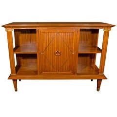 Rare Art Deco Cuban Mahogany Bookcase or Cabinet Designed by Pierre Lardin