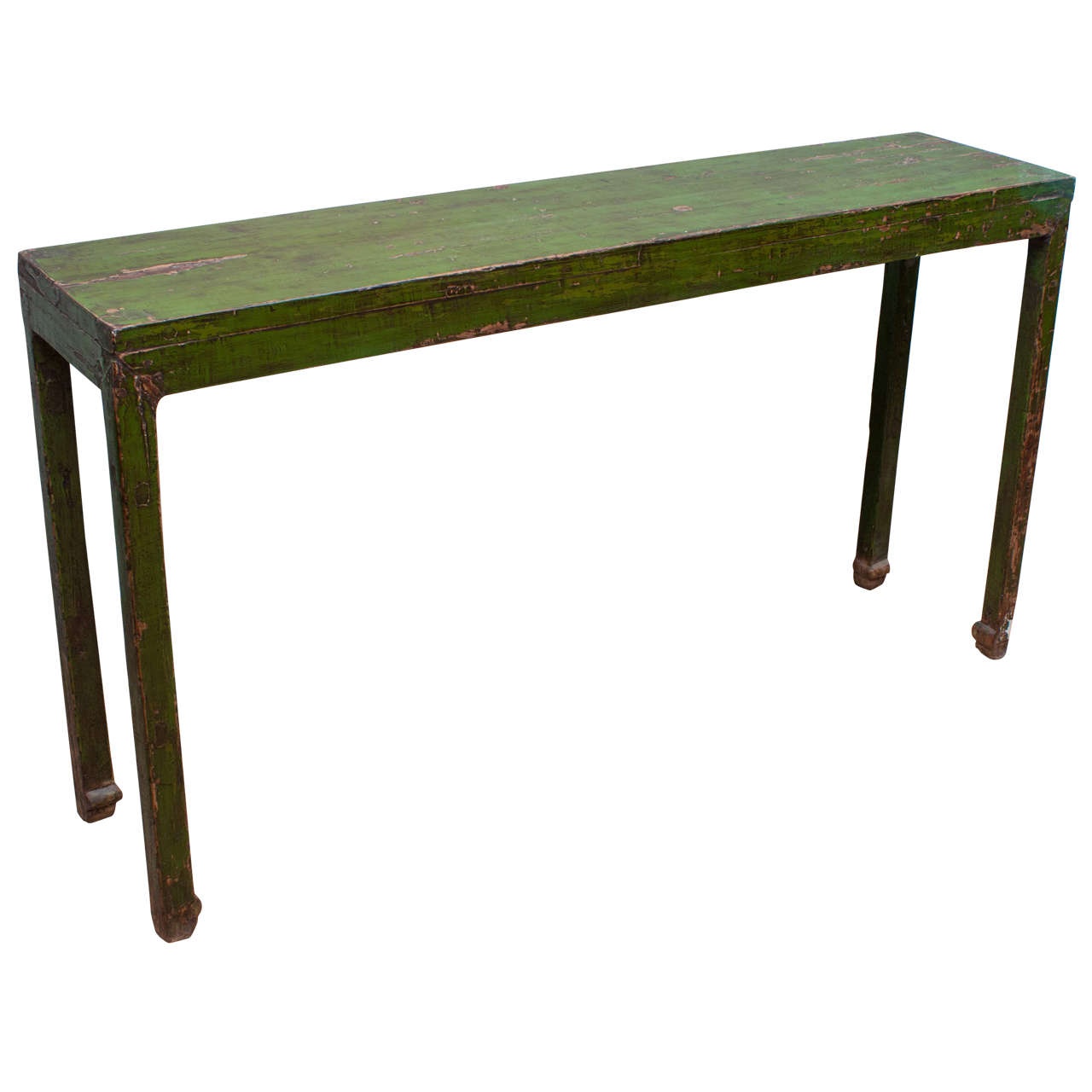Rustic Green Lacquered Console Table at 1stdibs : X from www.1stdibs.com size 1280 x 1280 jpeg 64kB