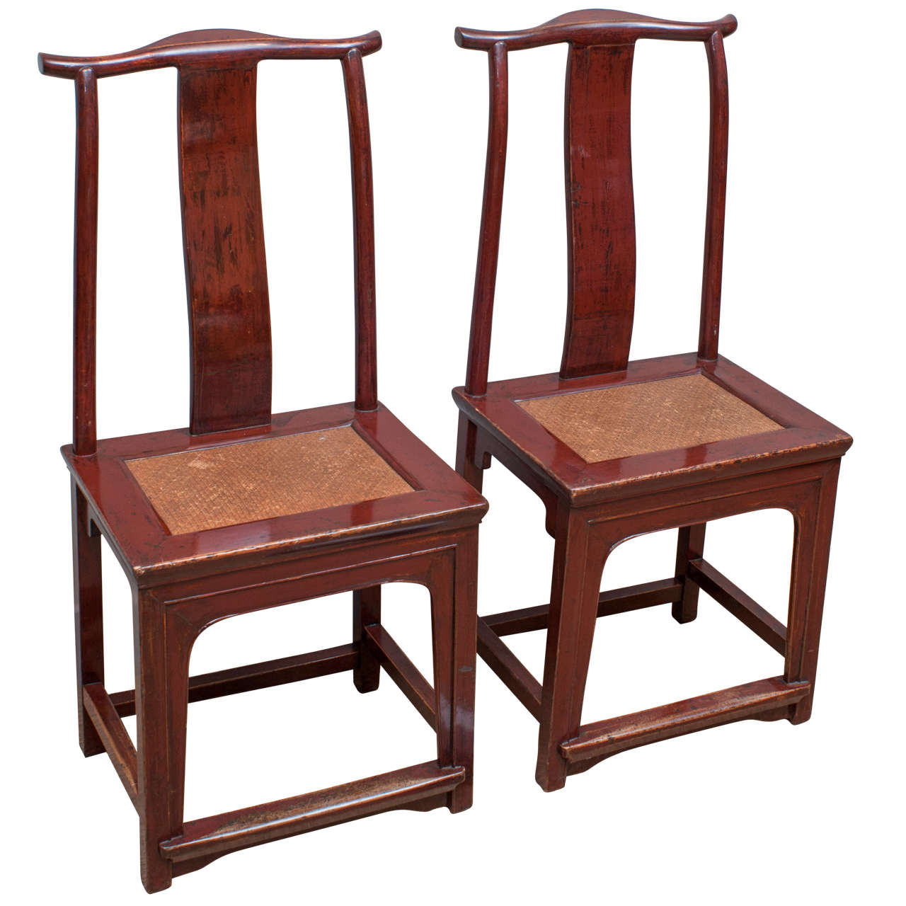 - Pair Of Red Lacquer Chinese Side Chairs, 19th Century At 1stdibs