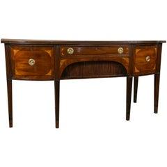 Fine 19th Century Mahogany Georgian Sideboard Buffet with Fan Inlay Detail