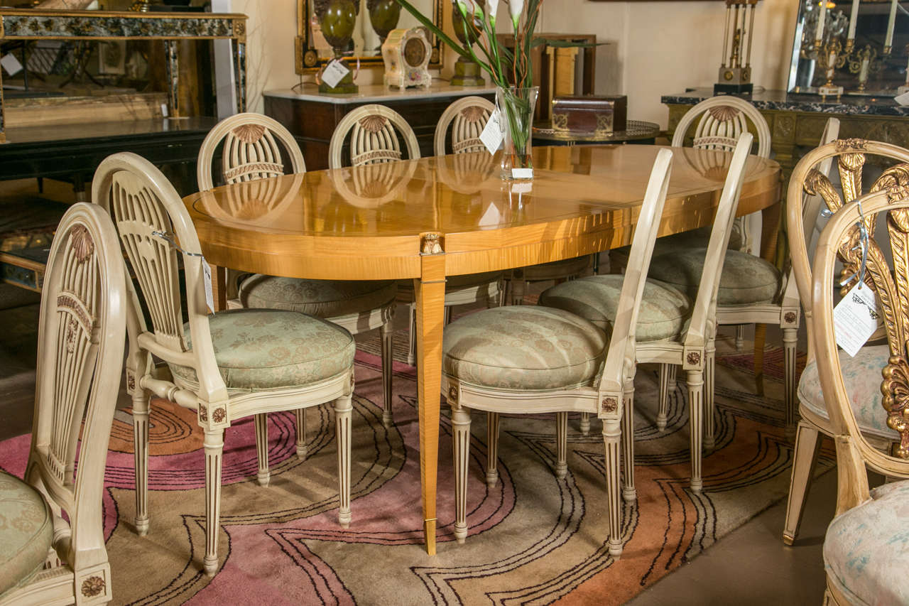Yew Wood Bronze Mounted Jansen Style Dining Table At 1stdibs