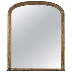 19th Century Large Gilt Overmantel Mirror