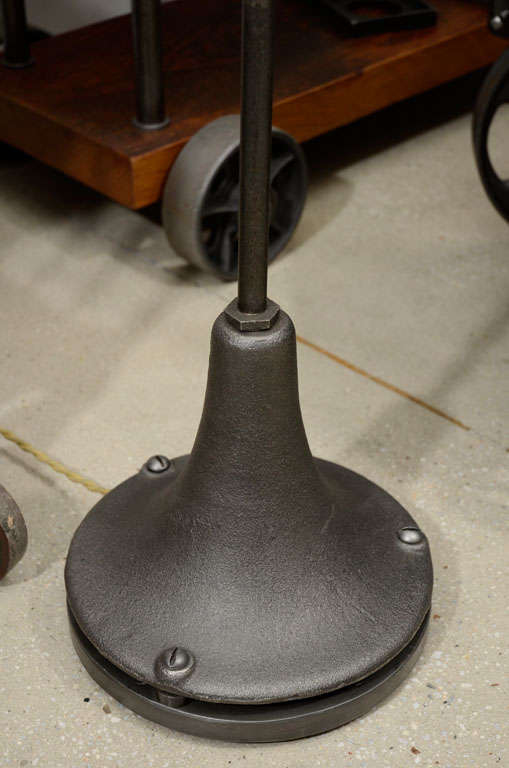 Cast Iron Adjustable Floor Lamp In Good Condition For Sale In Oakville, CT