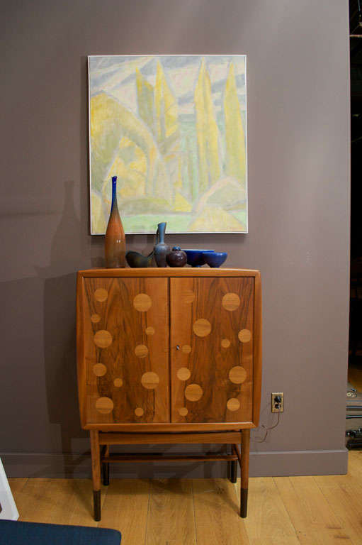Scandinavian Modern Edvard and Tove Kindt-Larsen Walnut Bar Cabinet
