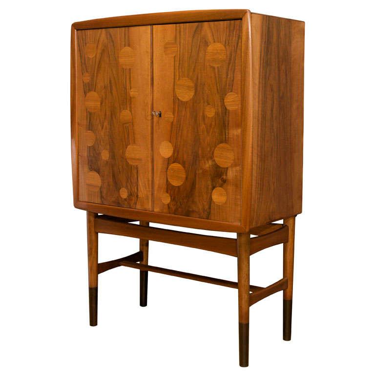 Edvard and Tove Kindt-Larsen Walnut Bar Cabinet