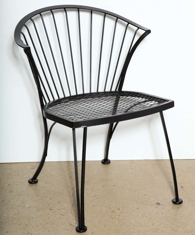 Wrought Iron Kitchen Chairs: Set Of 4 Russell Woodard Wrought Iron Chairs At 1stdibs