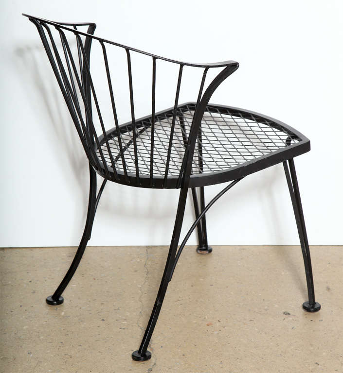 set of 4 Russell Woodard Wrought Iron Chairs at 1stdibs