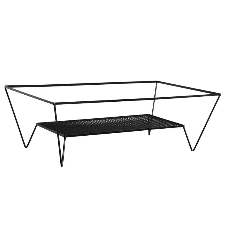 Frederick Weinberg Wrought Iron Coffee Table At 1stdibs