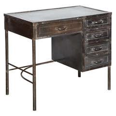 Vintage Steel Industrial Desk