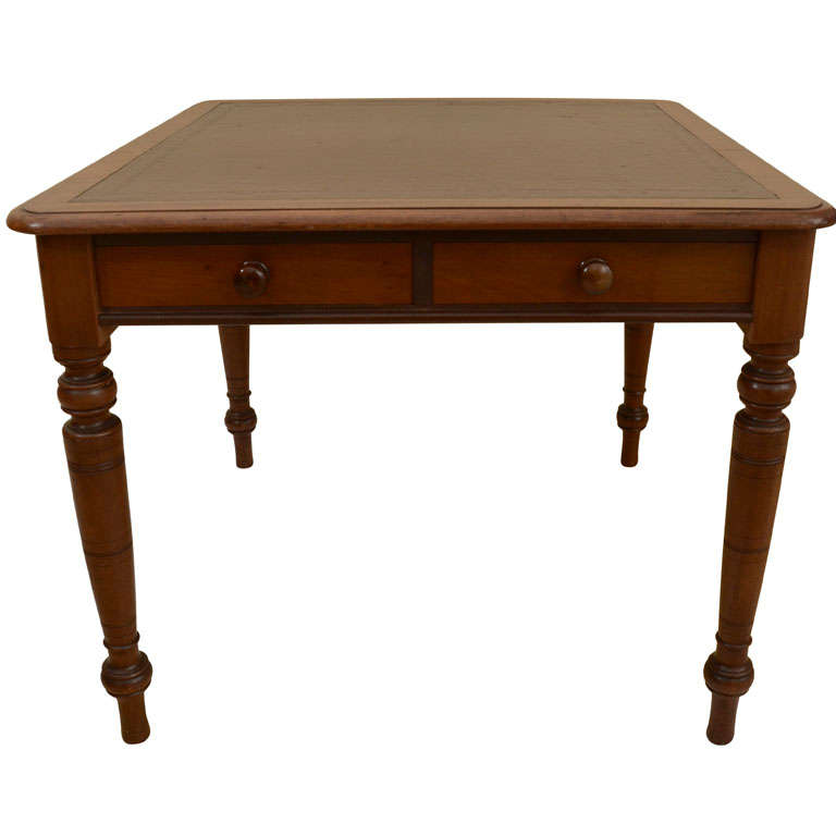 English Mahogany Leather Top Games Table Or Desk At 1stdibs