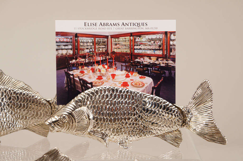 12 Italian Figural SilverPlate Fish Menu Holders/Table Markers For Sale 4