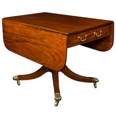 English, Mahogany Drop-Leaf Sofa Table