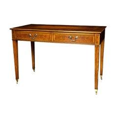 English Walnut Writing Table