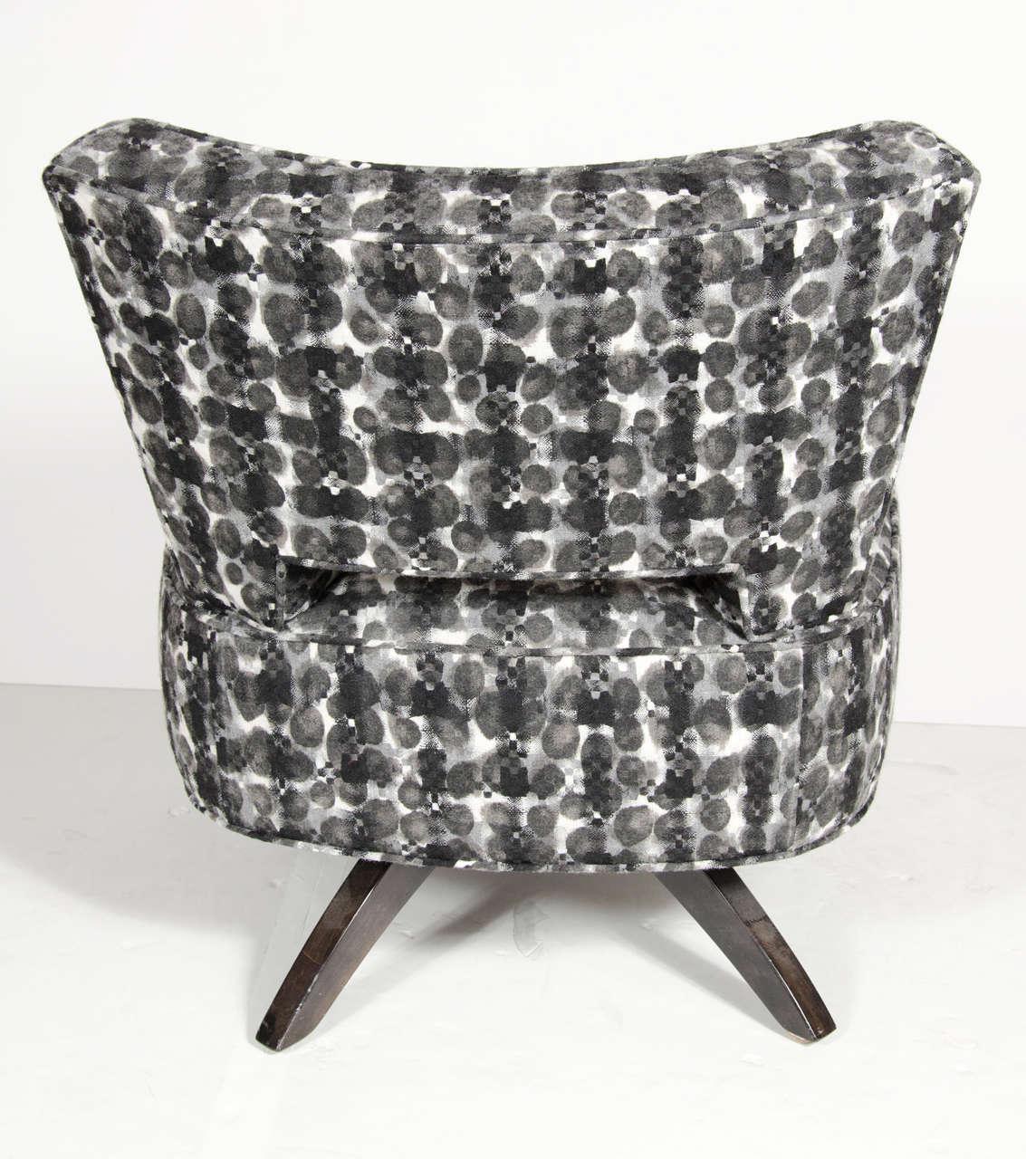Mid Century Modernist Swivel Slipper Chair By Koehler For Sale 1