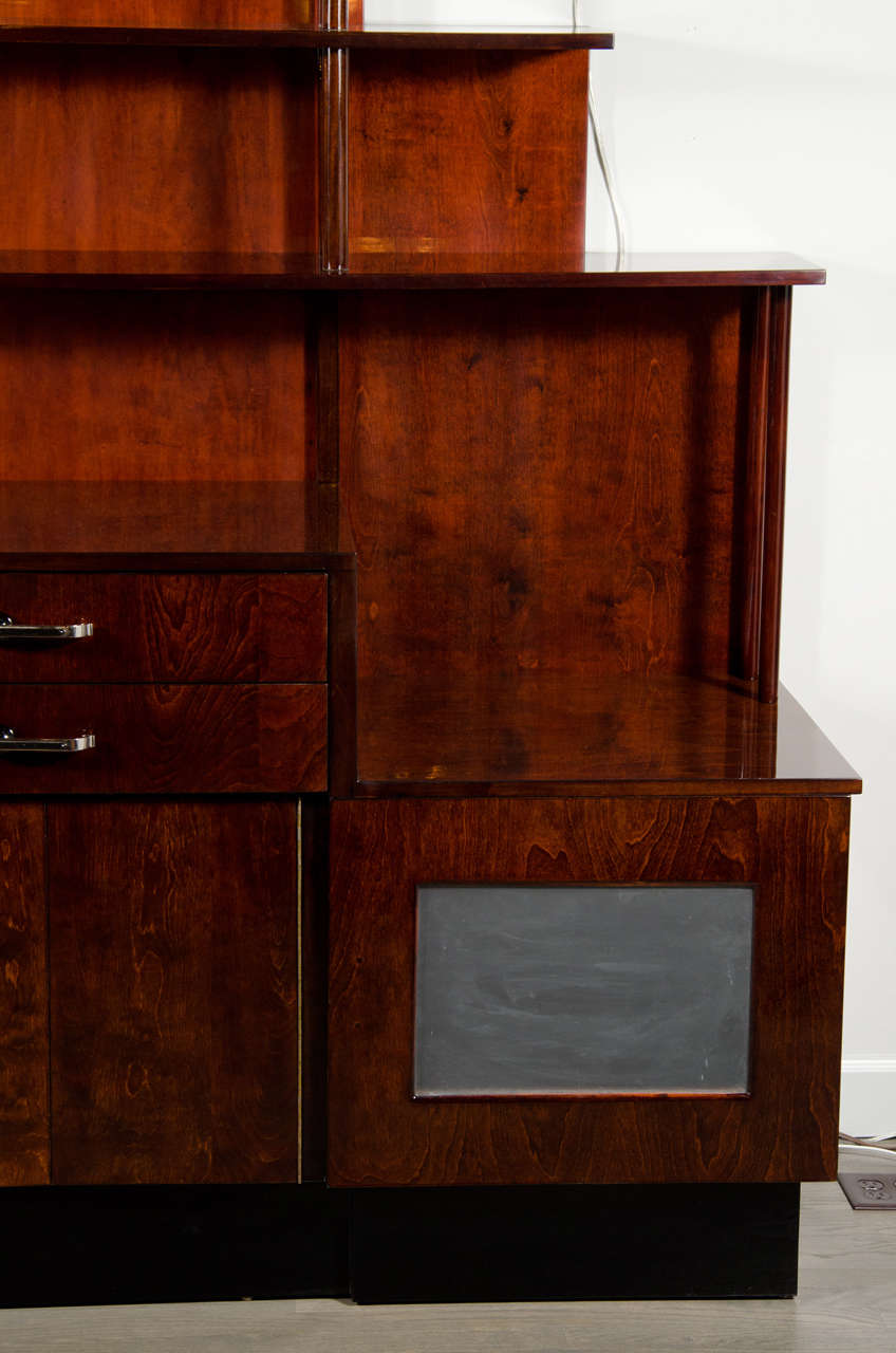 Outstanding Machine Age Art Deco Bar Cabinet Server At 1stdibs