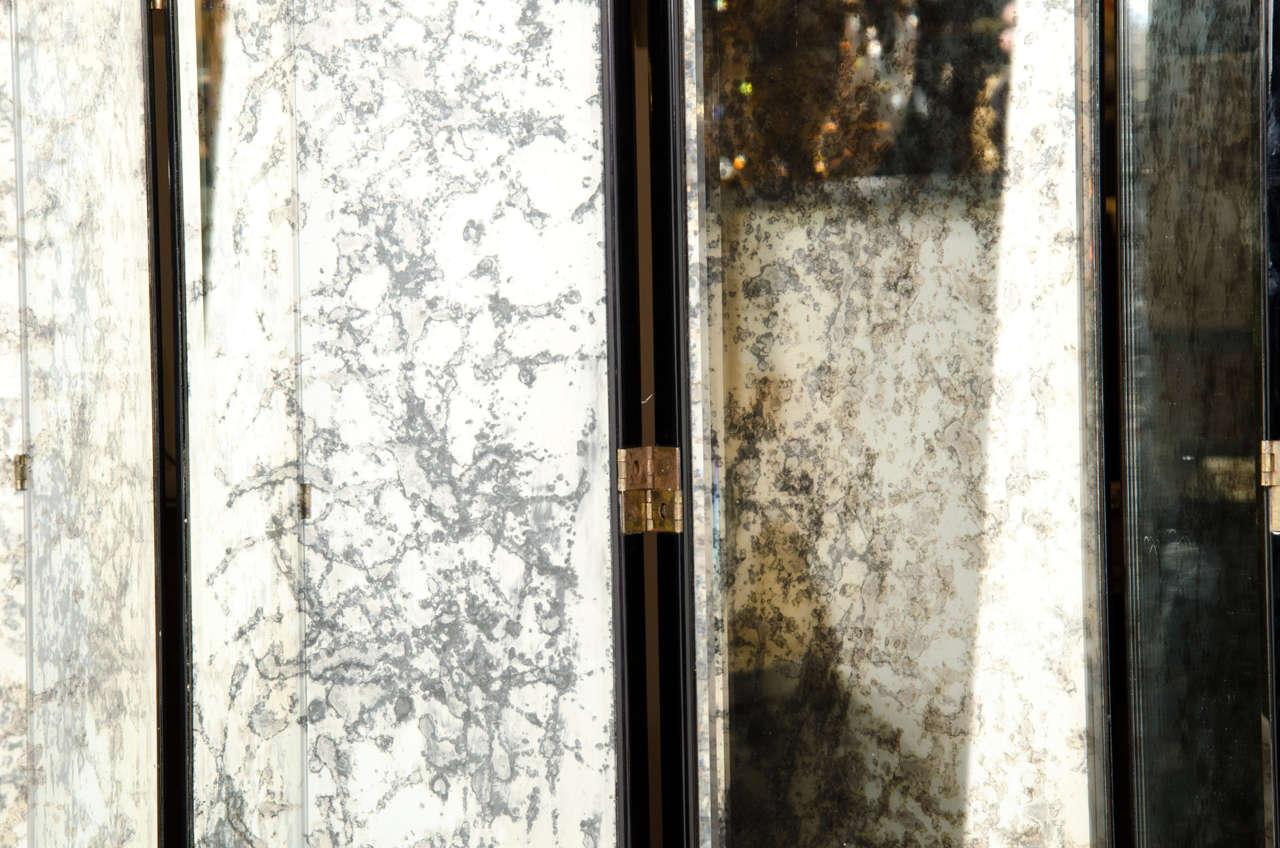 Glamourous Art Deco Skyscraper Style Mirrored Screen 4