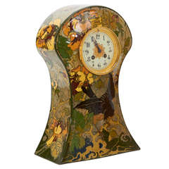 Rozenburg Pottery Holland, W.P. Hartgring Art Nouveau Mantle Clock, 1904