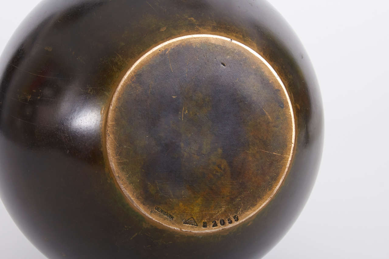 just andersen denmark art deco grand bronze vase c 1935 40 for sale at 1stdibs. Black Bedroom Furniture Sets. Home Design Ideas