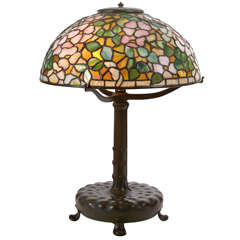 Louis C. Tiffany for Tiffany Studios Dogwood Blossom Table Lamp, circa 1906
