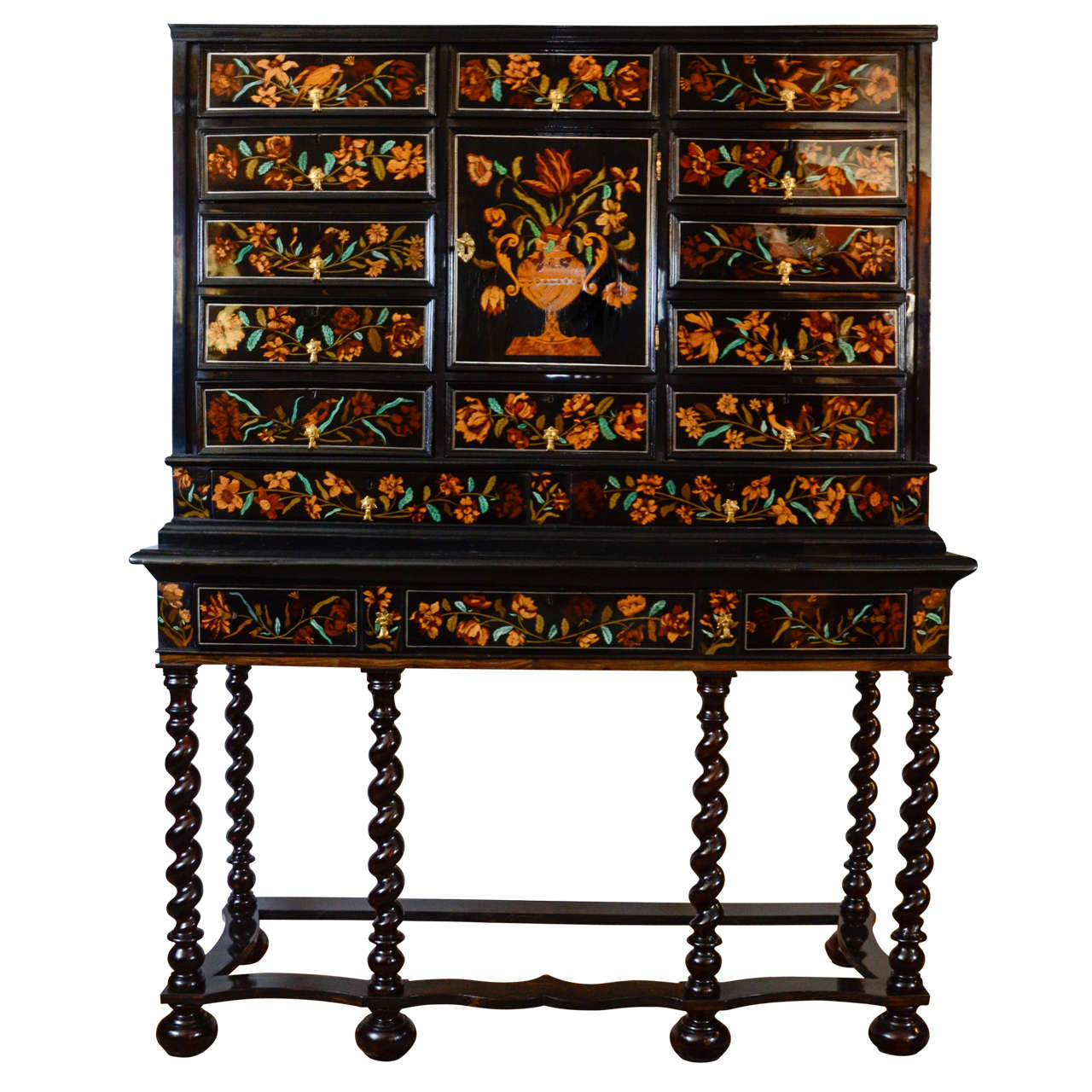 Louis Xiv Marquetry Cabinet On Stand 17th Century At 1stdibs