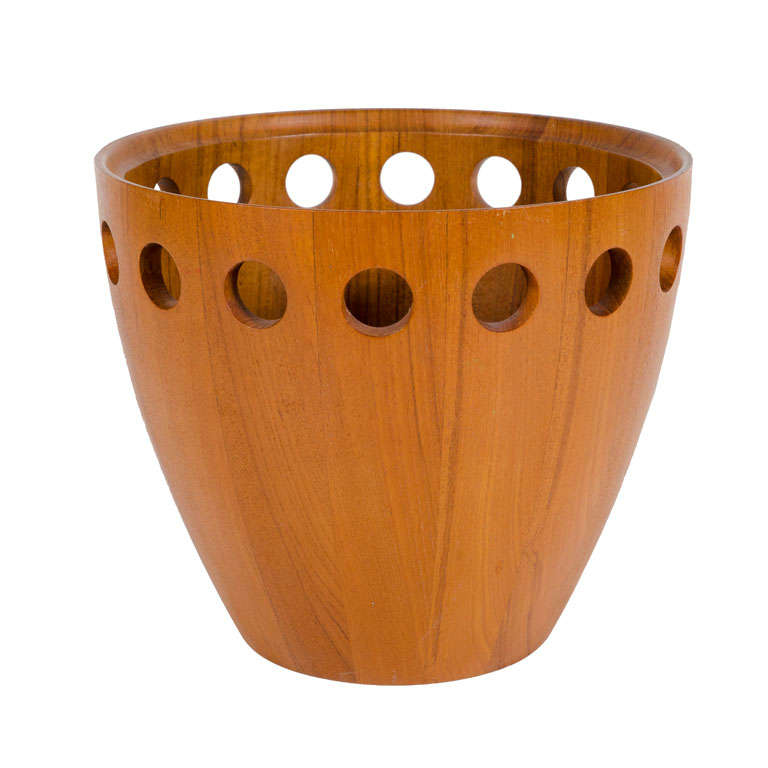 Danish Modern Staved Teak Fruit Bowl by Jens Quistgaard