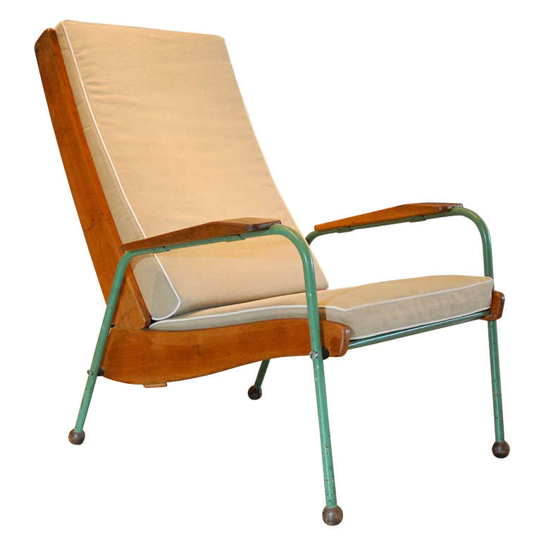 jean prouve visiteur lounge chair france 1942 at 1stdibs. Black Bedroom Furniture Sets. Home Design Ideas