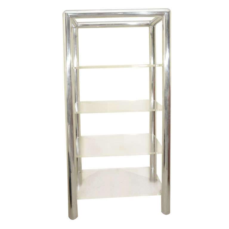 Aluminum and lucite etagere by pace at 1stdibs - Etagere aluminium design ...