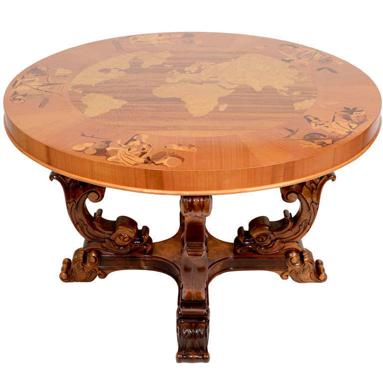 Art deco cocktail table for sale at 1stdibs for Art deco coffee table